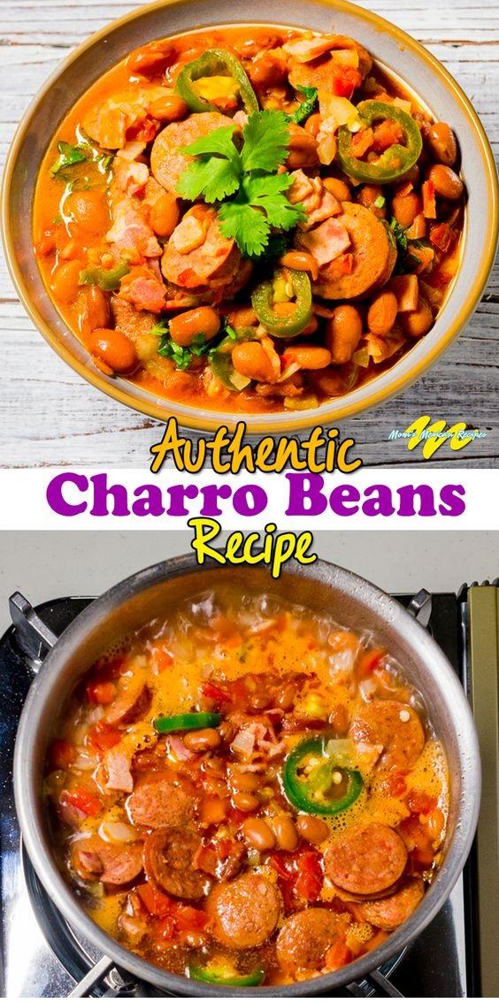 Charro Beans Recipe Or Frijoles Charros Recipe