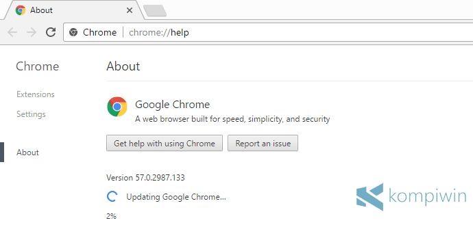 update chrome