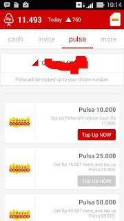 top up pulsa dari cashtree