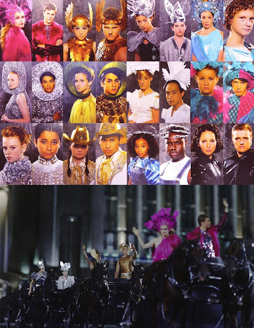 The Hunger Games Fashion - Tribute Parade dresses