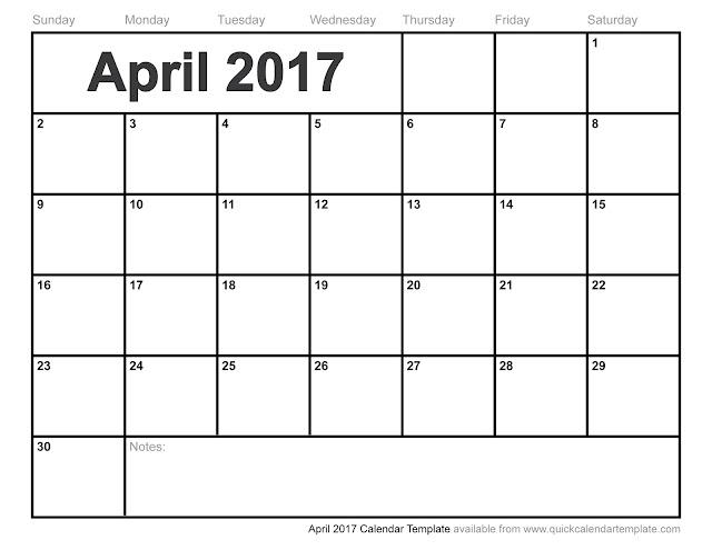 april calendar blank - Towerssconstruction