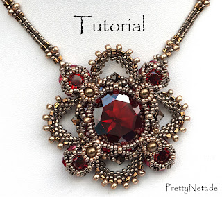 "Beading Pattern for pendant ""Royal Clover"" by PrettyNett.de"
