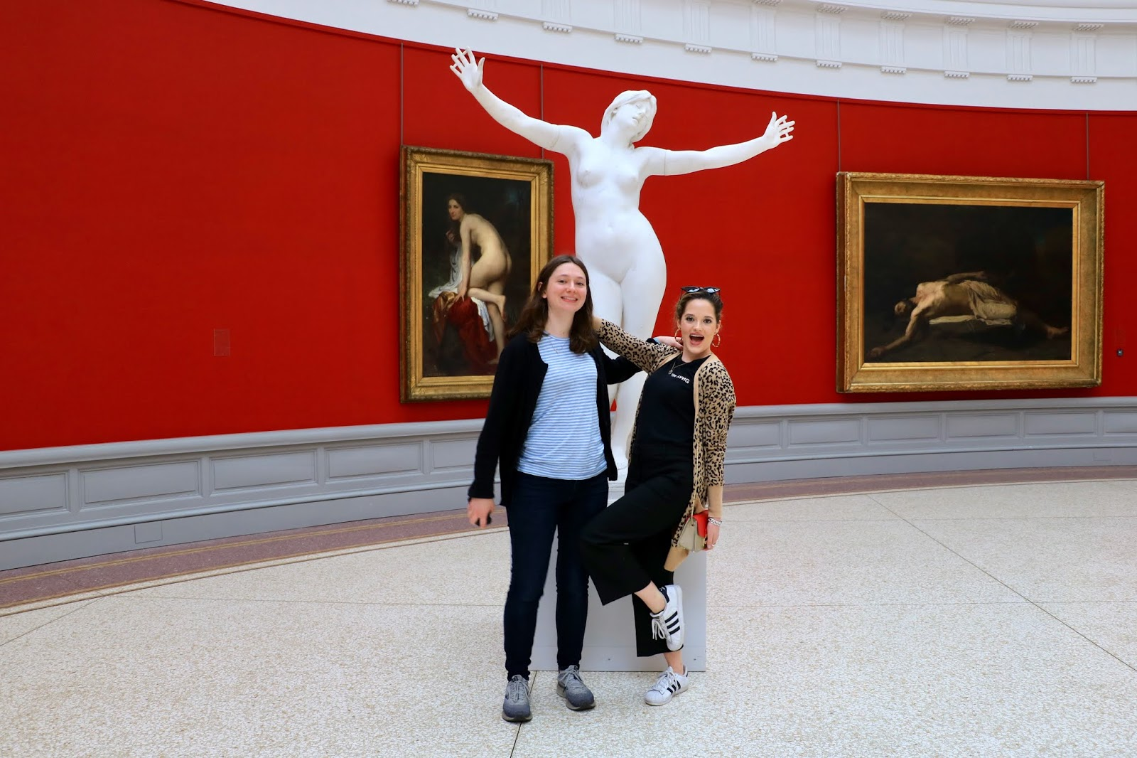 Fashion blogger Kathleen Harper and her sister at MSK Museum in Ghent, Belgium