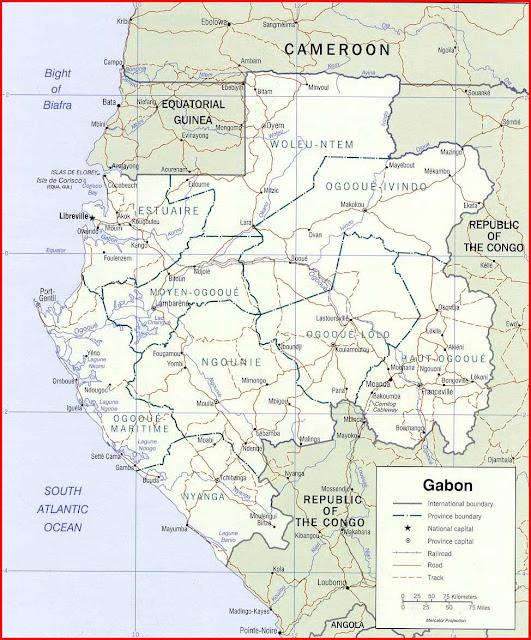 Gambar Peta politik Gabon