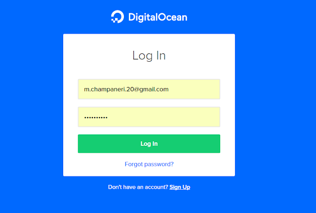 Digital Ocean Login