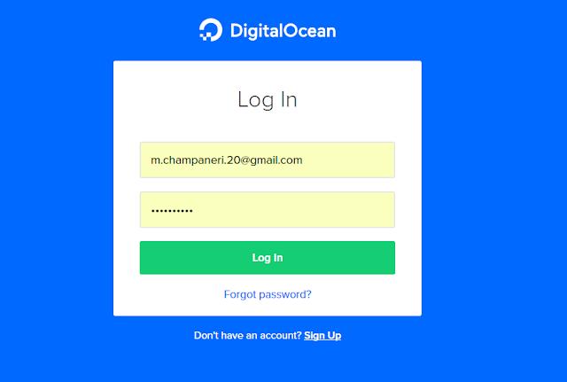 Digital Ocean Login