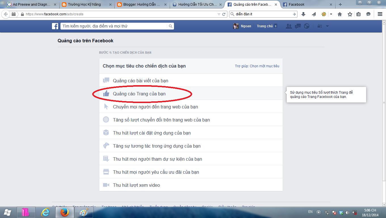 quảng cáo trên Facebook 4