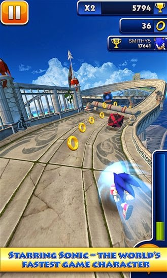SEGA's Sonic Dash game arrives on Windows Phone and Windows 8.1