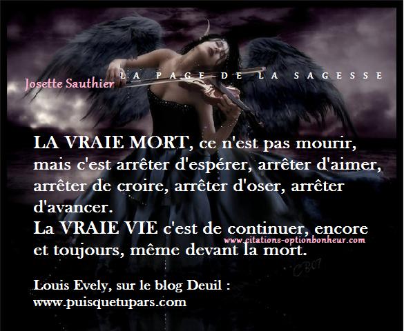 Les Panneaux Roses Citation Sur La Mort Et La Vie Louis Evely