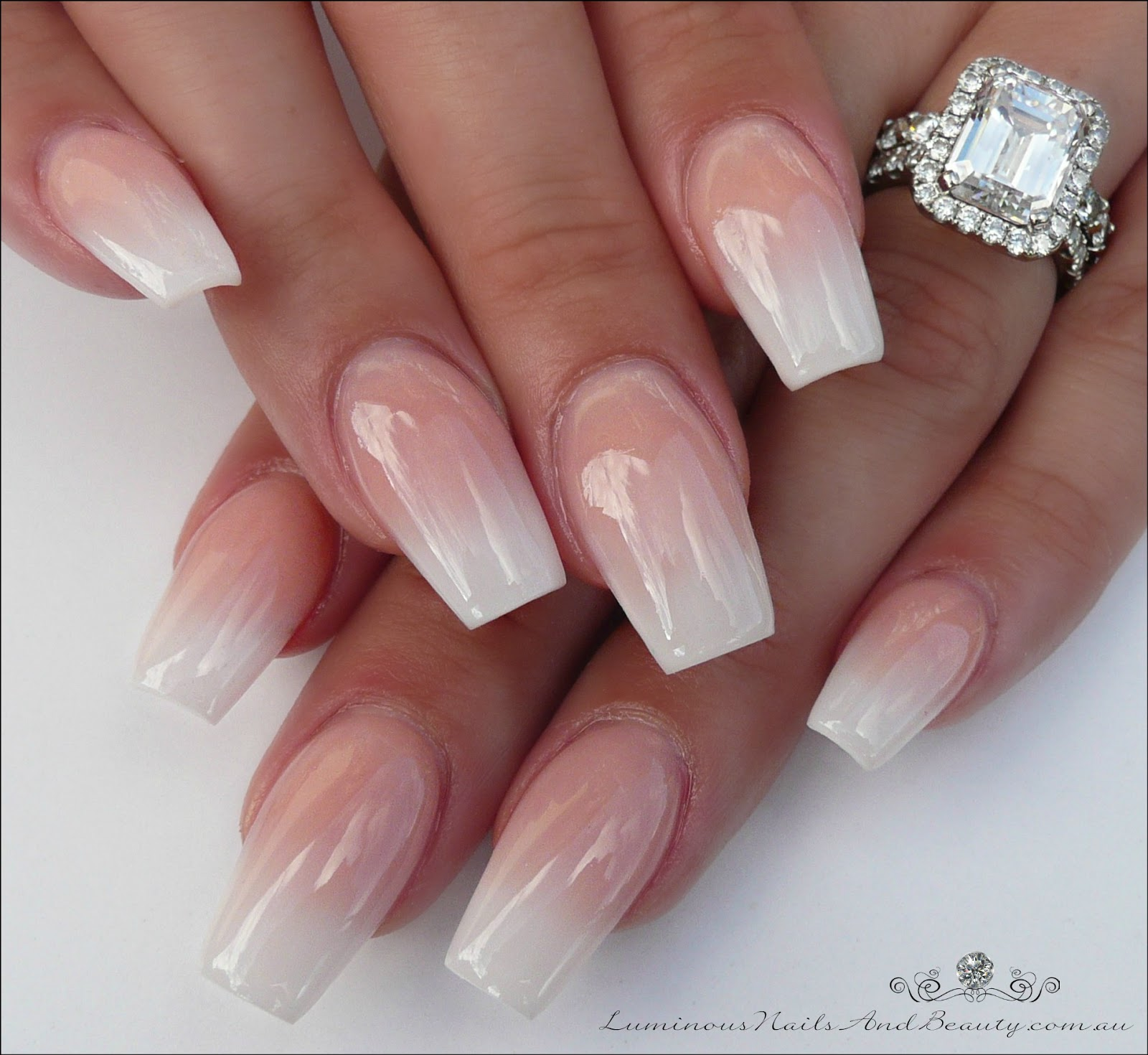 Luminous Nails Ombre Sculptured Acrylic