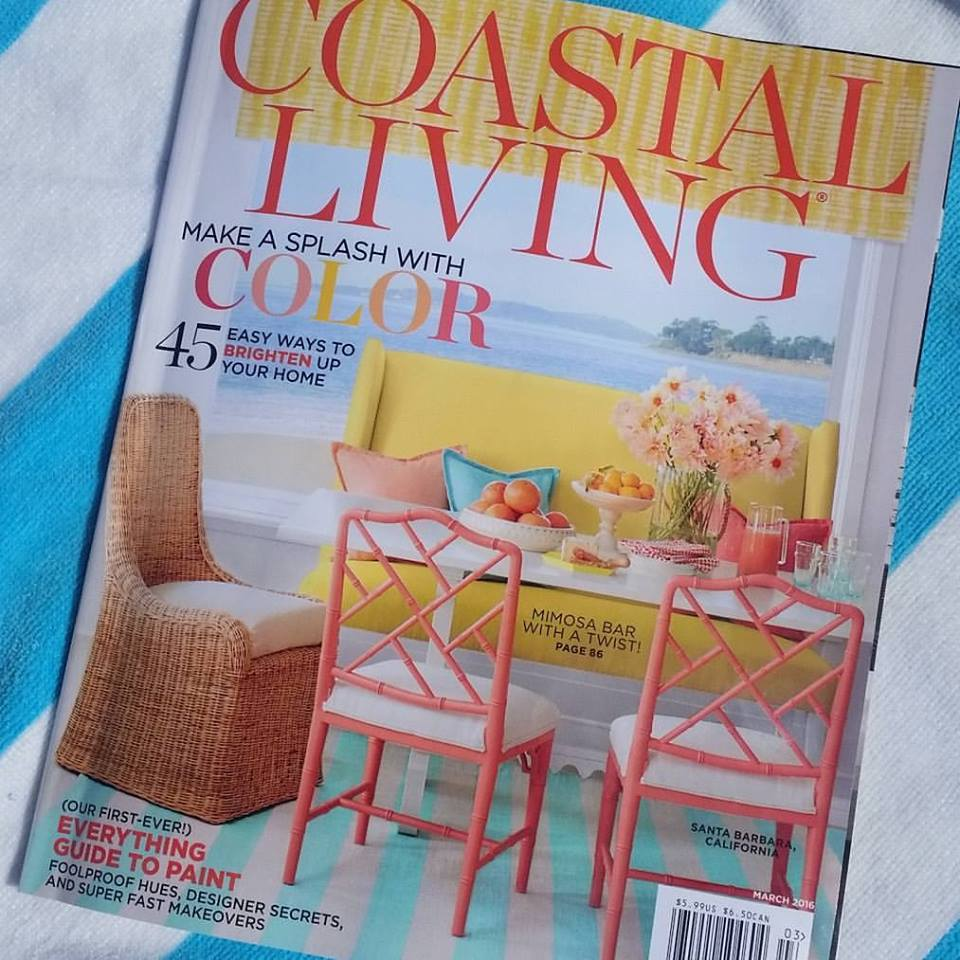 Our Aruba Blue Striped Rug Is Featured In Coastal Living!
