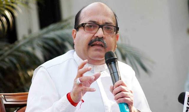 अमर सिंह ने राज्यसभा की सदस्यता से इस्तीफा देने की धमकी दी