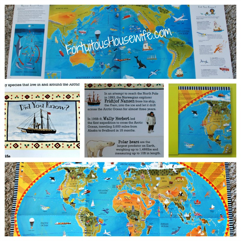 Barefoot books world atlas book app entertaining engaging and there are pages to unfold flaps to flip and a world map to tack on the wall or stow away in the handy back pocket gumiabroncs Choice Image