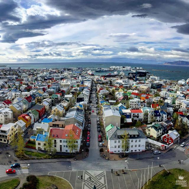 Vista de Reikiavik desde Hallgrímskirkja Islandia