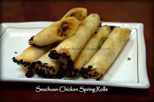 Szechuan Chicken Spring Rolls