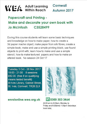Papercraft and Printing Course - St Ives Library