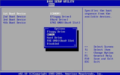 how to setup bios to install windows