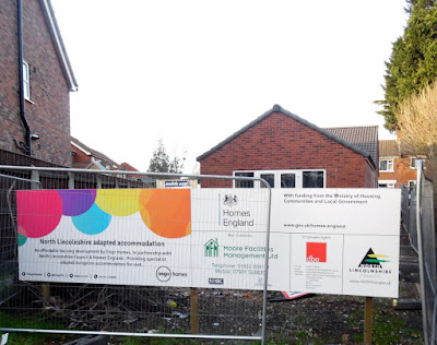 The new Ongo home on East Parade being built in Brigg - pictured in January 2019 - see Nigel Fisher's Brigg Blog