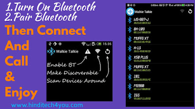 Android bluetooth walkie-talkie app