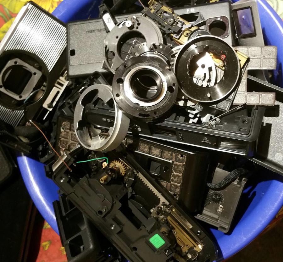 So sieht es aus wenn ich Kameras ausschlachte und adaptiere