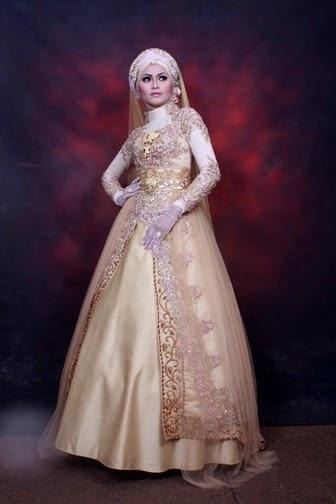 8 Contoh Baju Pengantin Kebaya Muslim