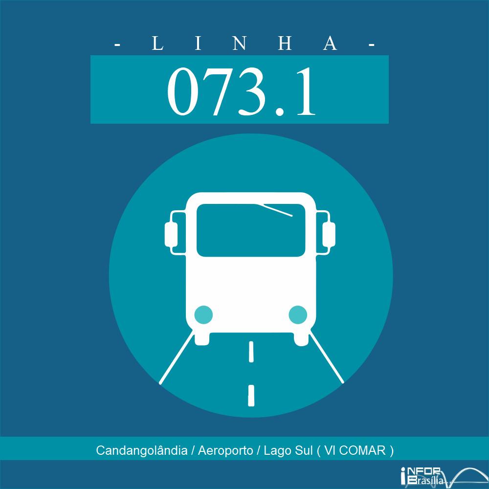 Horário de ônibus e itinerário 073.1 - Candangolândia / Aeroporto / Lago Sul ( VI COMAR )