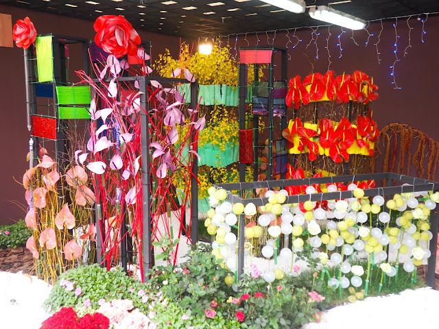 Flowers & lights display at Hong Kong Flower Festival 2017