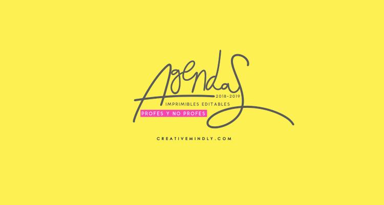 Creative Mindly: Las agendas editables e imprimibles 2018-2019 para ...