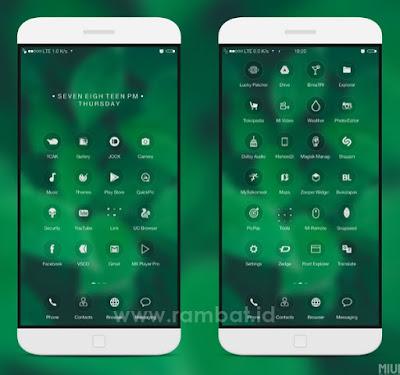 Tema Xiaomi Tembus Akar MIUI 10 - GREENEST v3.0