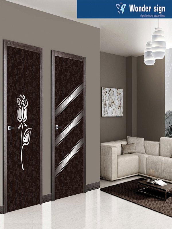 Fancy Designer Door Print & Decorative Sunmica Paper Print | Membrane Digital Door Print ...