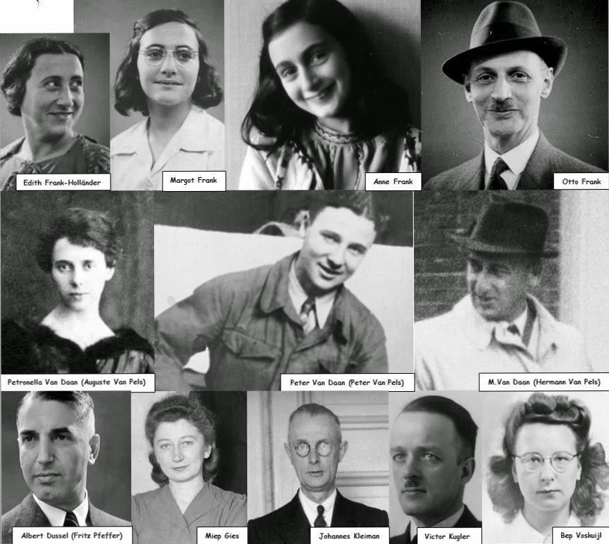 1944 and secret annex August 4 1944 and occupants of the secret annex getting captured what were the names of the four people who helped the occupants of the secret annex miep, mrkraler, elli, and koophuis.