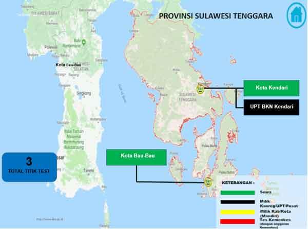 Lokasi Tes Cat BKN Propinsi Sulawesi Tenggara