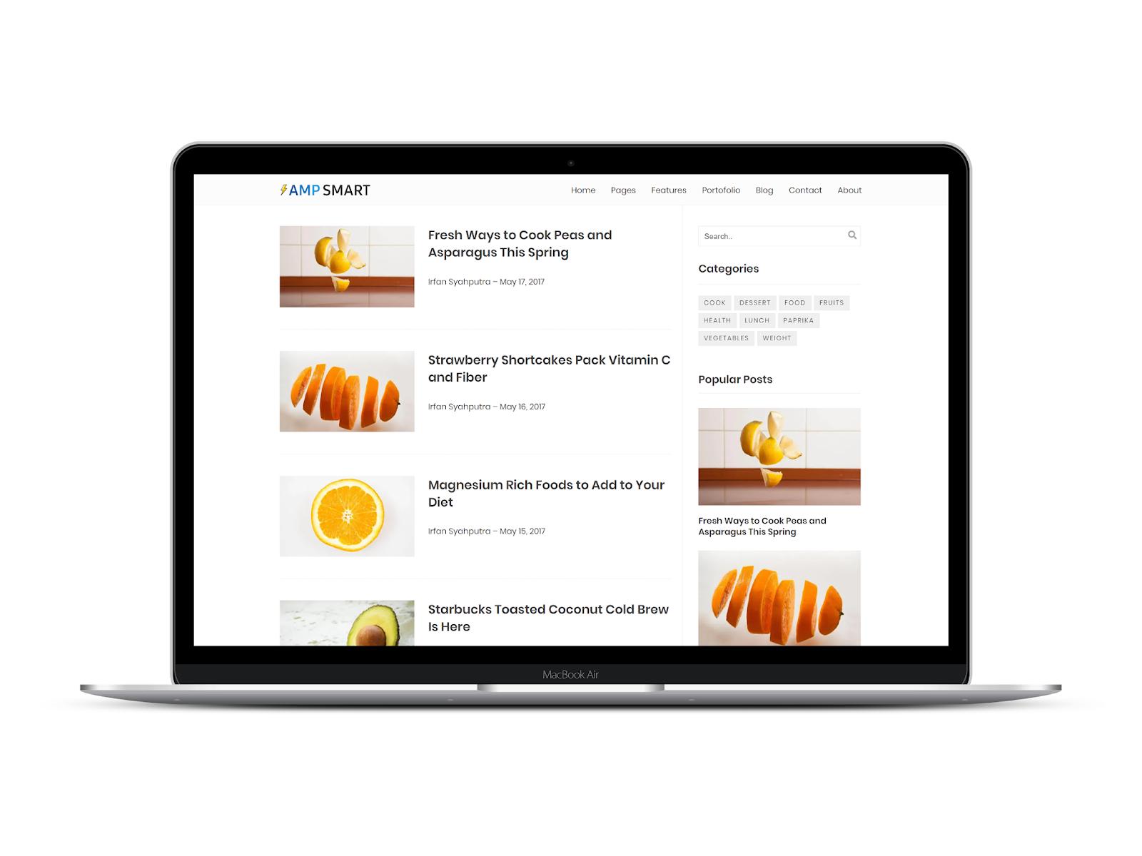 AMP Smart Blogger Template
