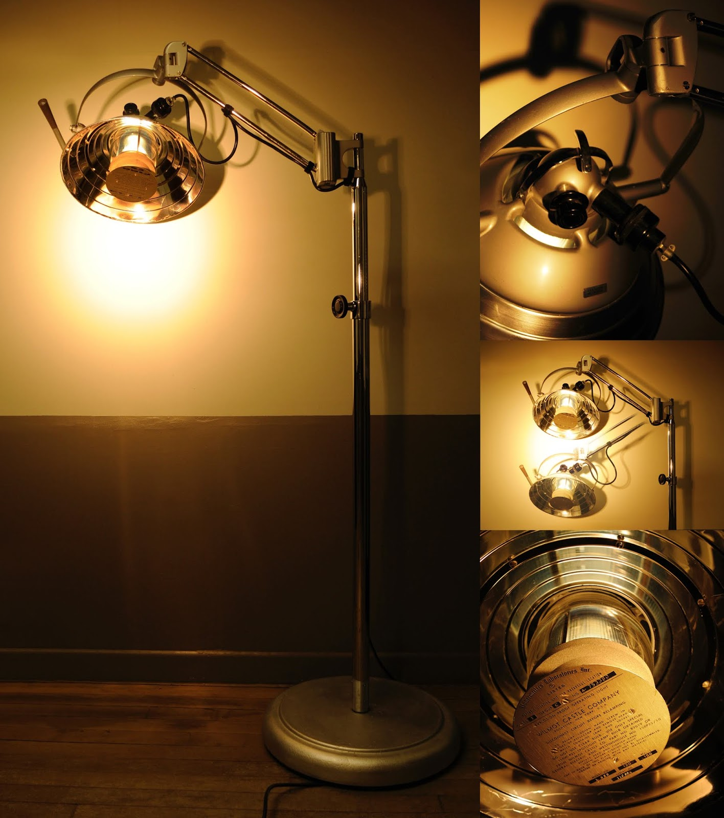 Vintage 1950's Articulated Operating Room Spot Light