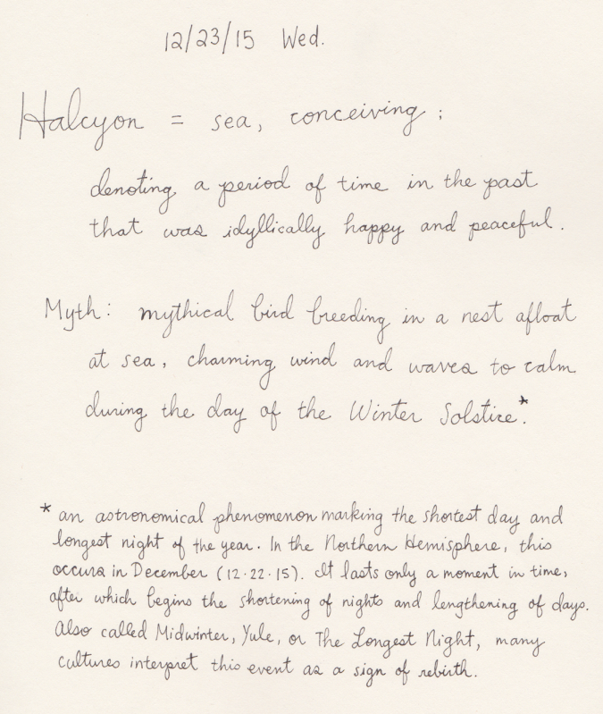 Halcyon definition and description