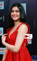 Adah Sharma in Red Deep Neck Spicy Gown ~  Exclusive 55.jpg