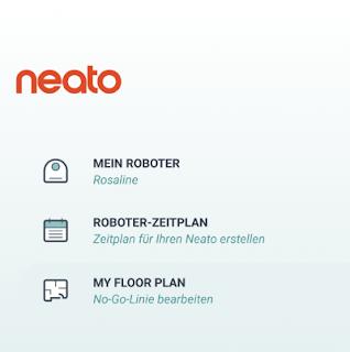 App-Screenshot Neato-App: My FloorPlan als neuer Menüpunkt für den Botvac D7 conected