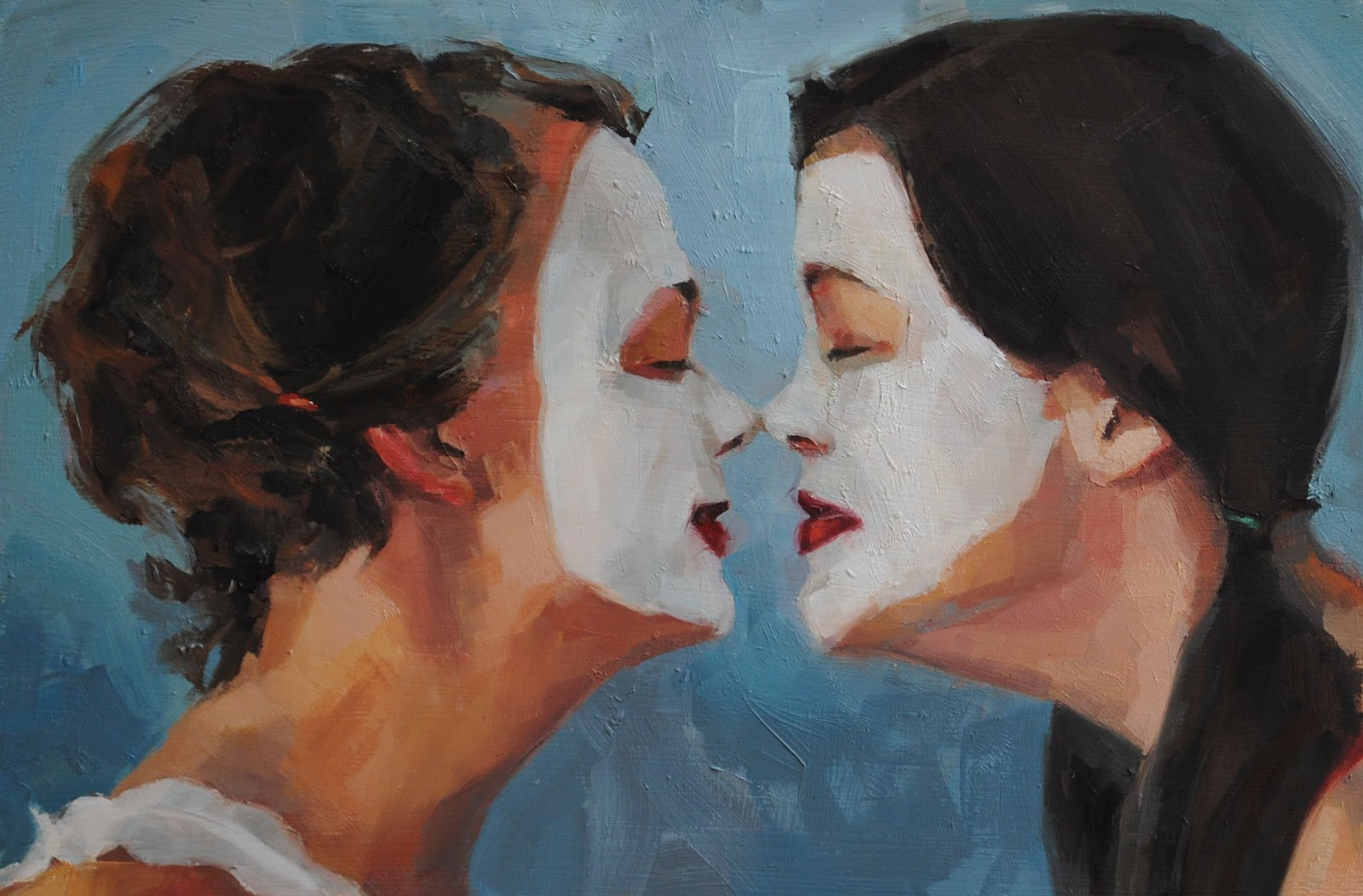 Jean Townsend's Daily Painting: Nose Kiss