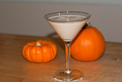pumpkin cake martini, cake vodka,  pumpkin pie liqueur, milk, pumpkin cocktail, fall cocktail, autumn cocktail, halloween cocktail