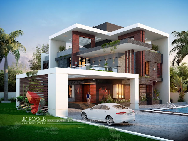 Bungalow elevation, 3D Front Elevation for your dream home and its realistic 3D Rendered view.