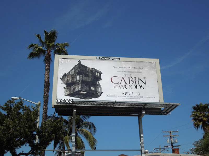 The Cabin in the Woods billboard