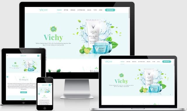 Blog ladingpage bán hàng chuẩn SEO 2018 mỹ phẩm Vichi