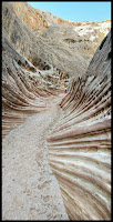 Funky Rib Like section of the Walls in the Wild Horse Slot canyon