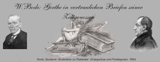 Gedichte Und Zitate Fur Alle W Bode Goethe In Vertraulichen