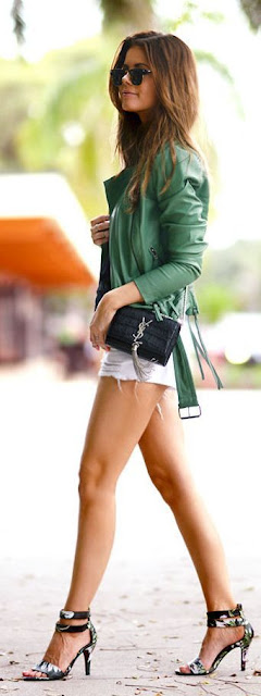 How To Rock A Green Jacket by Stylista