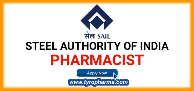 Pharmacist Vacancy Bhilai Steel Plant 2019, SAIL (Steel Authority of India) - 07 posts