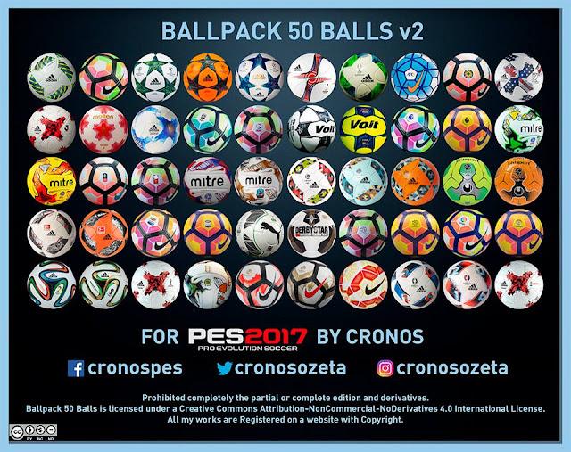 PES 2017 Ball Pack V2 dari Cronos