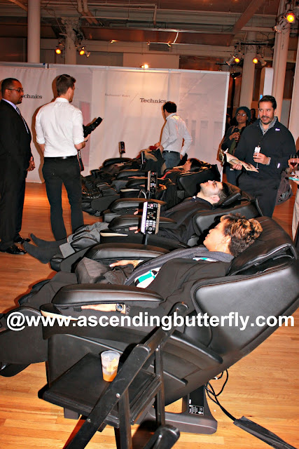 Panasonic Massage Chairs in use at The Luxury Technology Show New York City March 2015