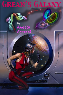 "Book cover art: ""Grean's Galaxy"" by Angela Fersoni"