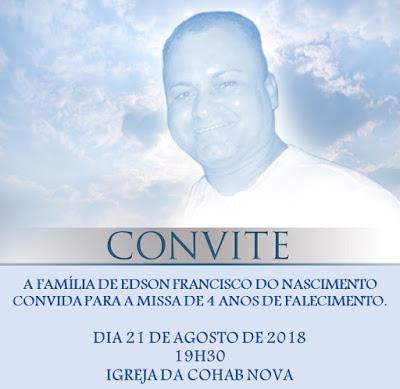 Em Delmiro Gouveia, familiares relembram quatro anos de morte de Edson do Nascimento